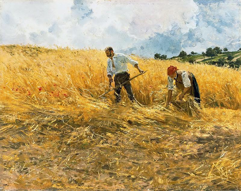 The harvest. Friedrich Kallmorgen