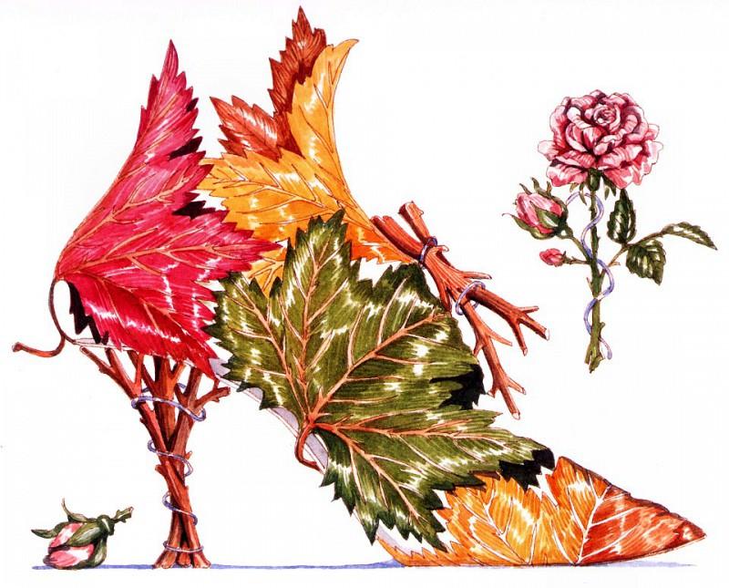 Листья клена и роза. Деннис Кайт