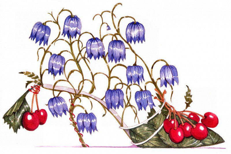 Fritillaria & Cherry. Dennis Kyte
