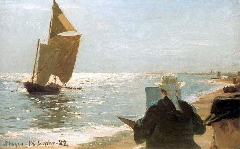 Pintores en la playa 1892. Peder Severin Kroyer