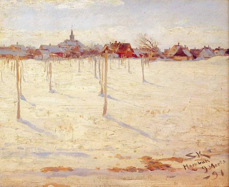 Жара зимой, 1891. Педер Северин Крёйер