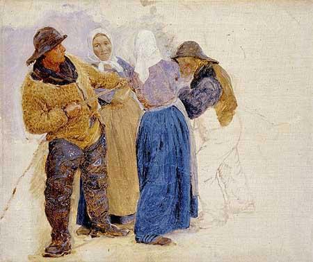 Женщины и рыбаки Хорнбаека, 1875. Педер Северин Крёйер