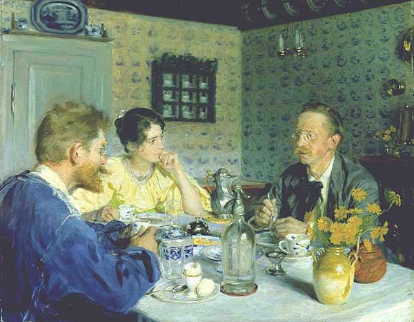 Almuerzo con Otto Benzon. Peder Severin Kroyer