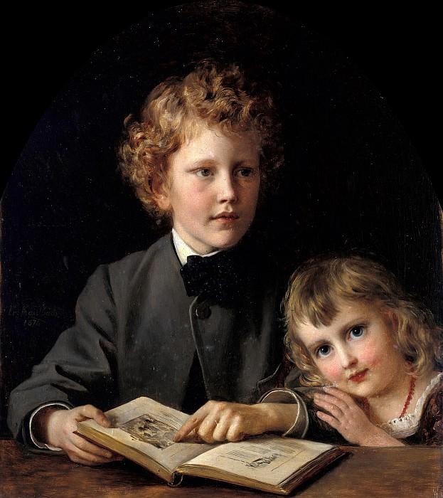 Portrait of Carl Friedrich Felix and Carola von Behr. Friedrich August Von Kaulbach