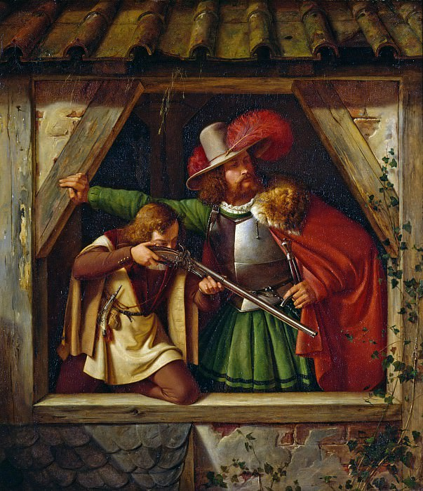 Knight and Squire. Heinrich Krigar