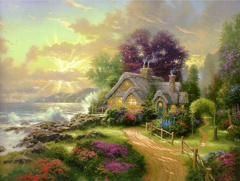 A New Day Dawning (Abraxsis). Thomas Kinkade