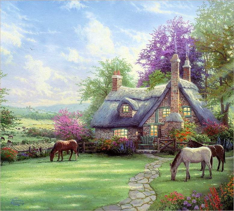 RArt SWD TK A Perfect Summer Day. Thomas Kinkade