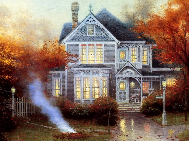 Amber Afternoon. Thomas Kinkade