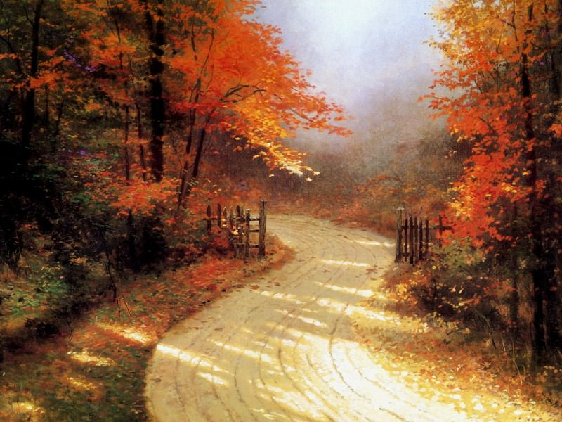 Autumn Lane. Thomas Kinkade