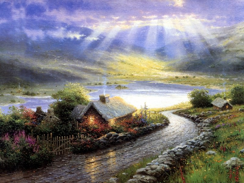 Emerald Isle Cottage. Thomas Kinkade