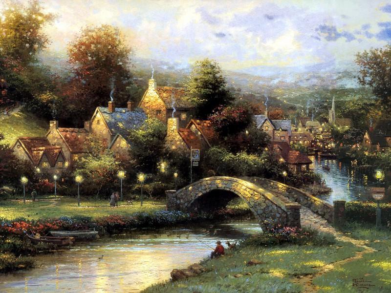 Lamplight Village. Thomas Kinkade