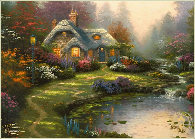 Everetts Cottage. Thomas Kinkade