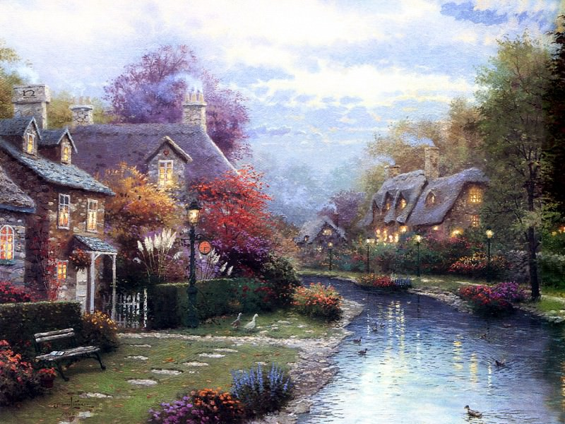 Lamplight Brook. Thomas Kinkade