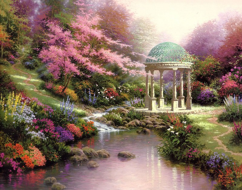 Pools Of Serenity (Abraxsis). Thomas Kinkade