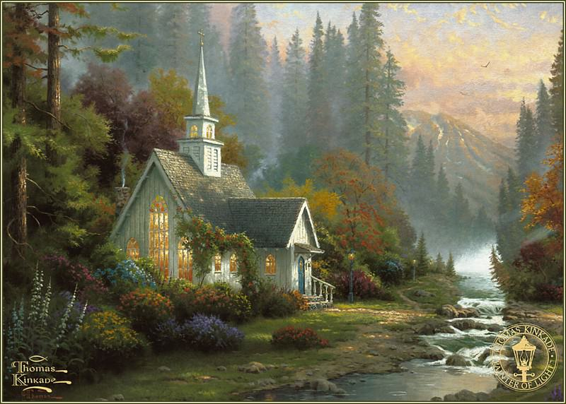 Forest Chapel. Thomas Kinkade