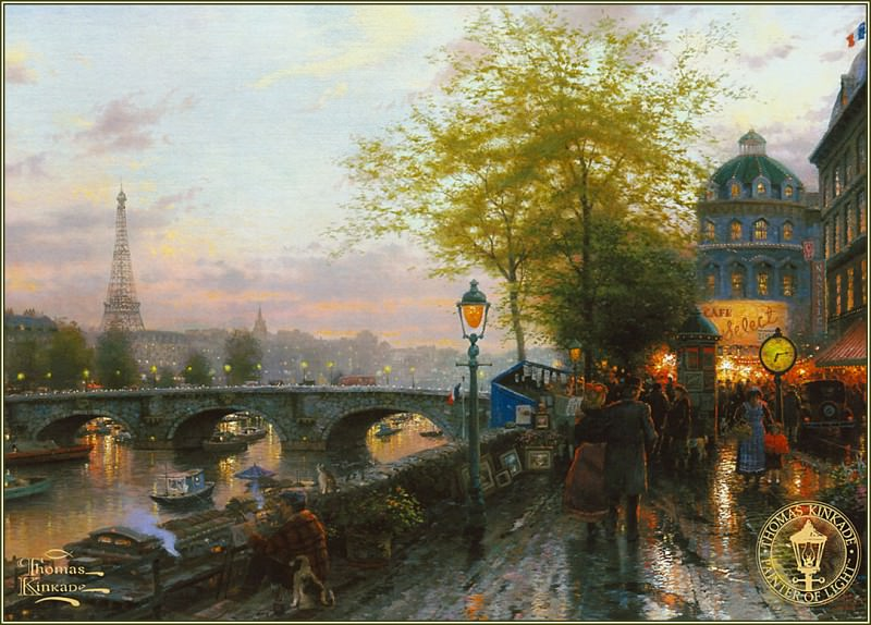 Paris EiffelTower. Thomas Kinkade