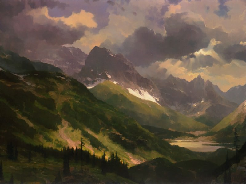 Passing Storm-Northern Rockies. Thomas Kinkade