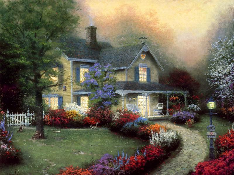 Home is Where the Heart Is. Thomas Kinkade