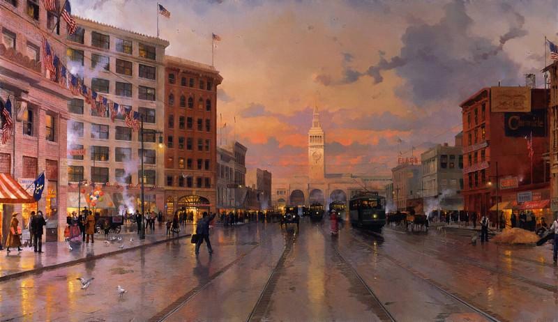 Zen 009 San Francisco 1909. Thomas Kinkade