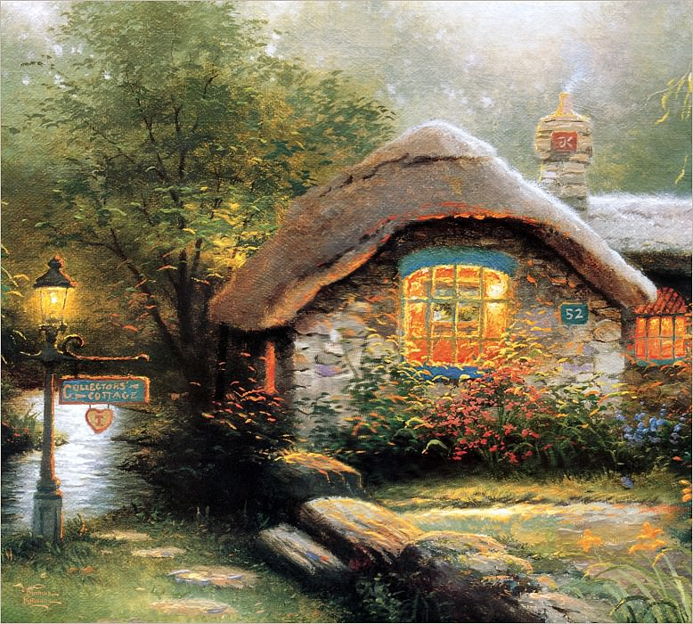 RArt SWD TK Collectors Cottage I. Thomas Kinkade