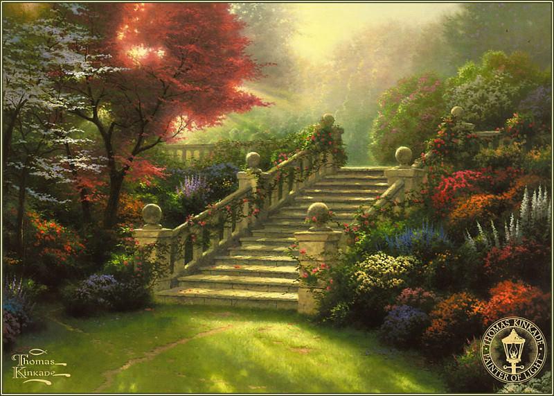 Stairway To Paradise. Thomas Kinkade