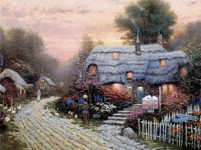 Olde Porterfield Tea Room. Thomas Kinkade