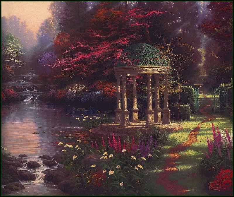 Garden of Prayer. Thomas Kinkade