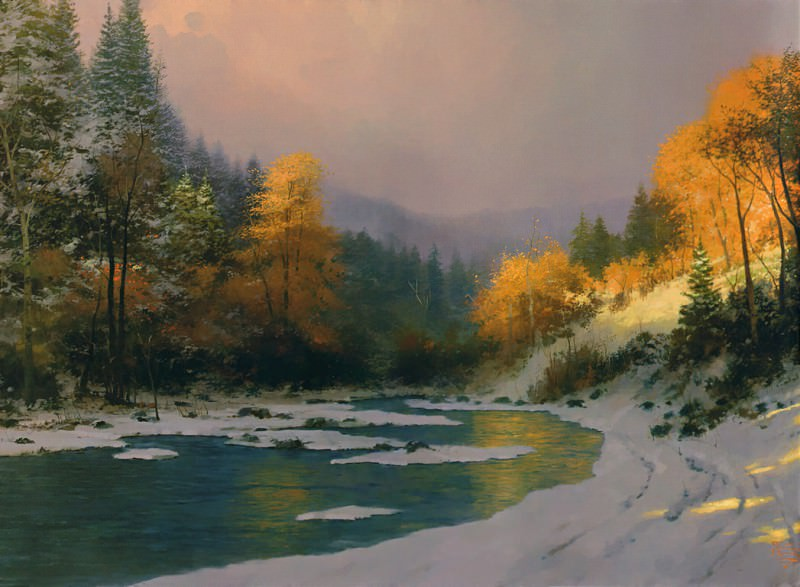 Autumn Snow. Thomas Kinkade