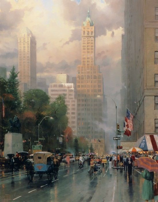 Zen 014 New York-Central Park South. Thomas Kinkade