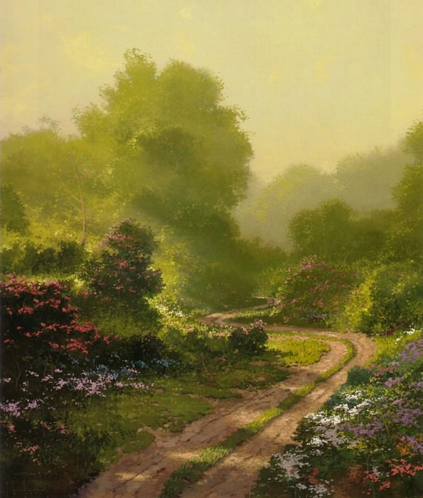 Morning Mist. Thomas Kinkade