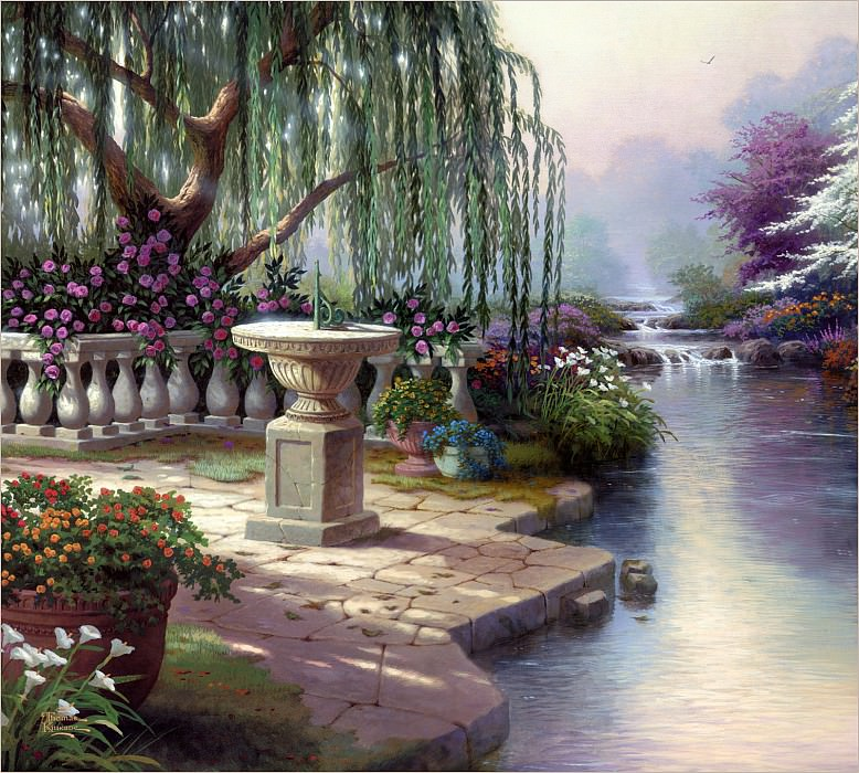 RArt SWD TK The Hour of Prayer. Thomas Kinkade