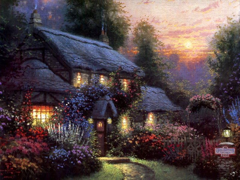 Juliannes Cottage. Thomas Kinkade