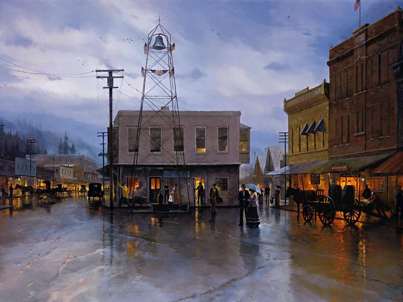 Placerville Main Street 1916. Thomas Kinkade