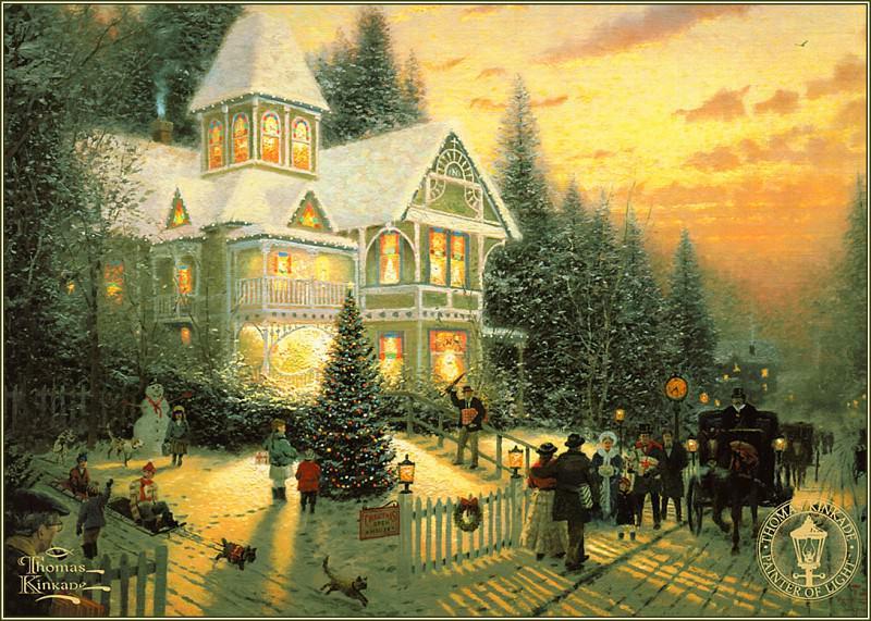 Victorian Christmas. Thomas Kinkade