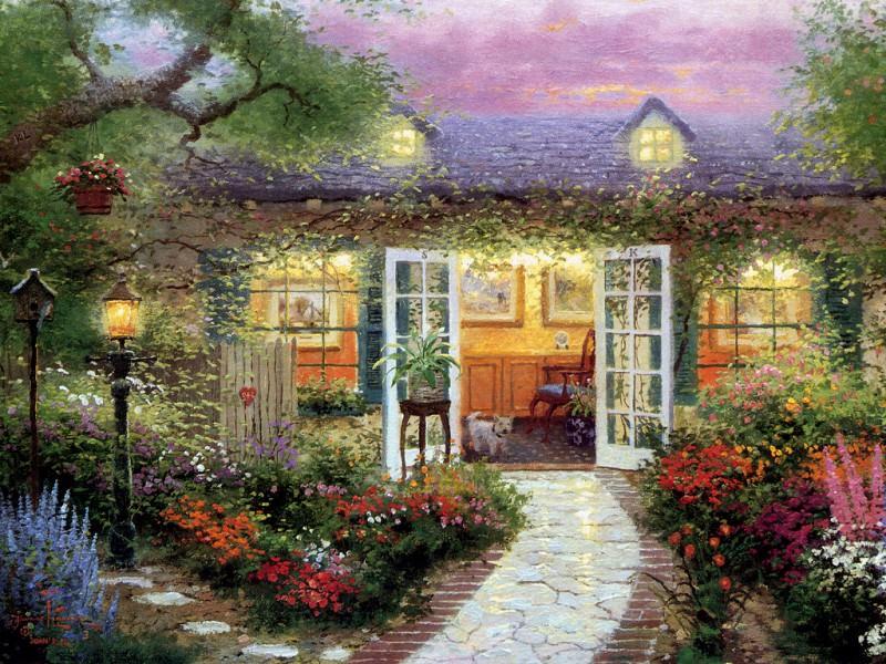 Studio in the Garden. Thomas Kinkade