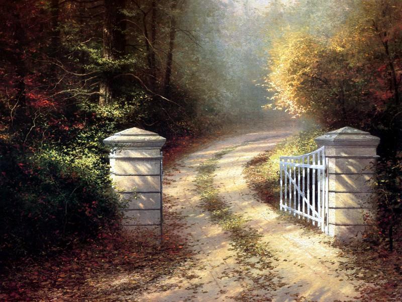 Autumn Gate. Thomas Kinkade