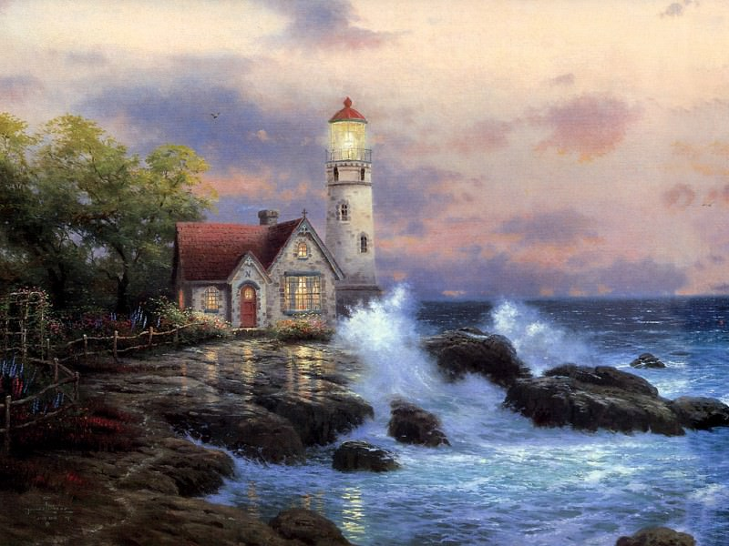 Beacon of Hope. Thomas Kinkade