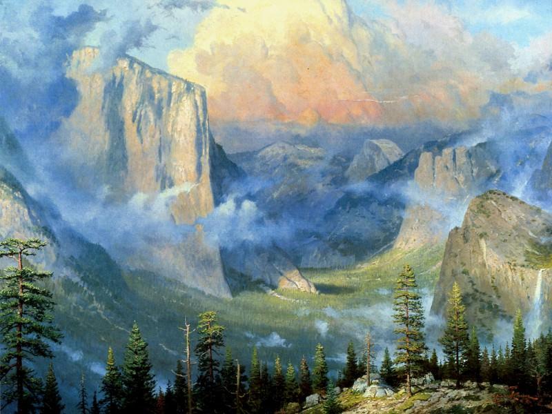 Yosemite. Thomas Kinkade