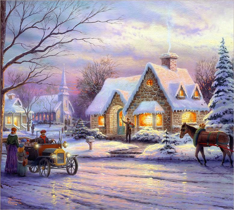 Memories Of Christmas. Thomas Kinkade