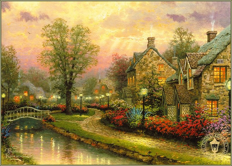 Lamplight Lane. Thomas Kinkade