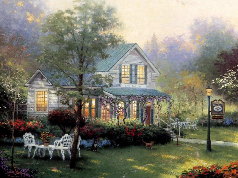 Village Inn. Thomas Kinkade