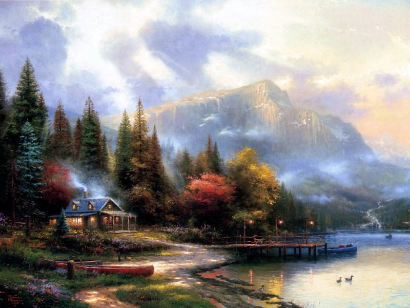 End of a Perfect Day III. Thomas Kinkade