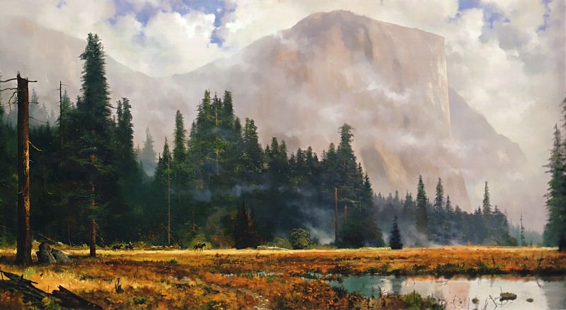 Yosemite Meadows. Thomas Kinkade