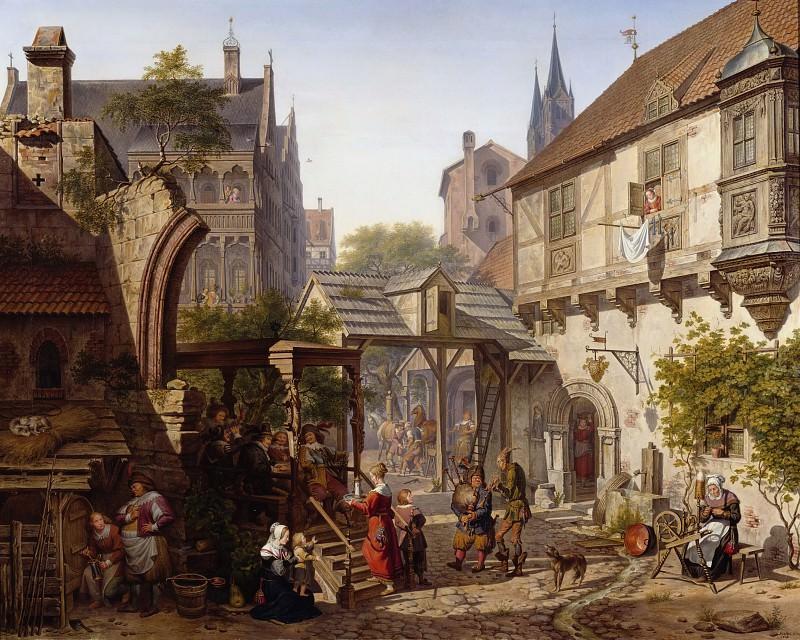 Старинная германская улочка. Карл Вильгельм Кольбе II