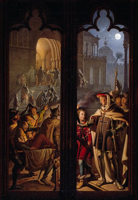 Рыцари Тевтонского Ордена в Иерусалиме, исполняющие роль санитаров. Карл Вильгельм Кольбе II