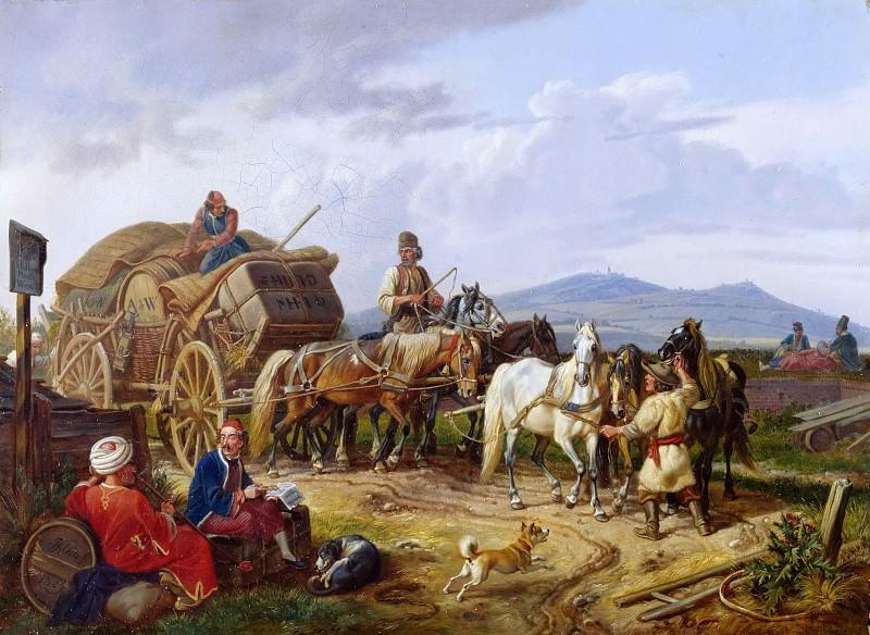 Валашская телега. Иоганн Адам Кляйн