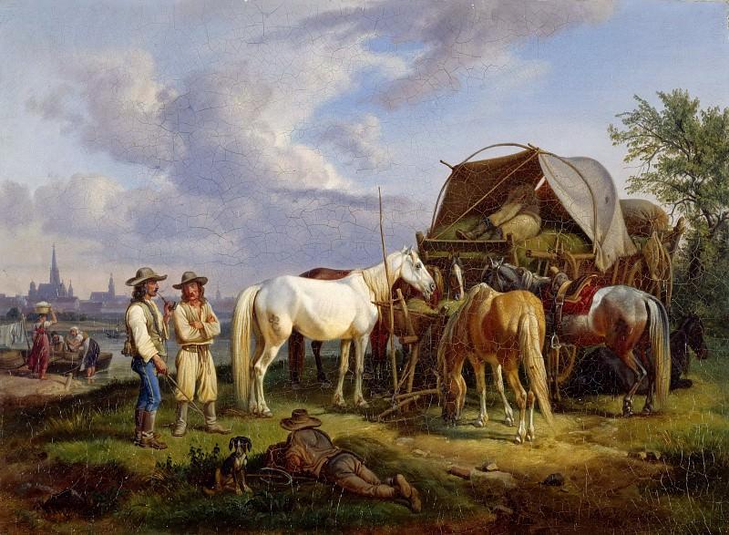 Венгерские возчики. Иоганн Адам Кляйн
