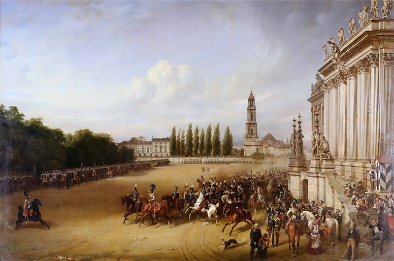 Military Parade in Potsdam in 1817. Franz Kruger