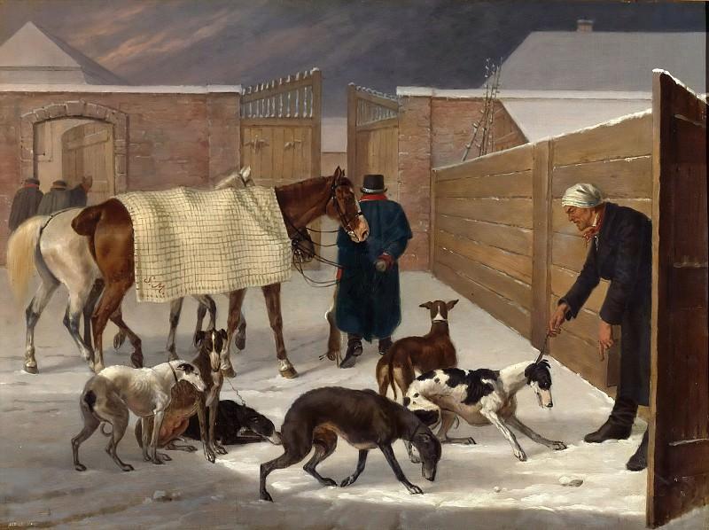 Return from the Hunt. Franz Kruger