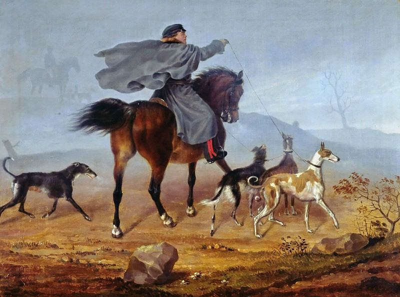 Ride to the hunting. Franz Kruger